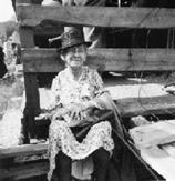 Mrs. Nettie Foster at the Burlington Fair